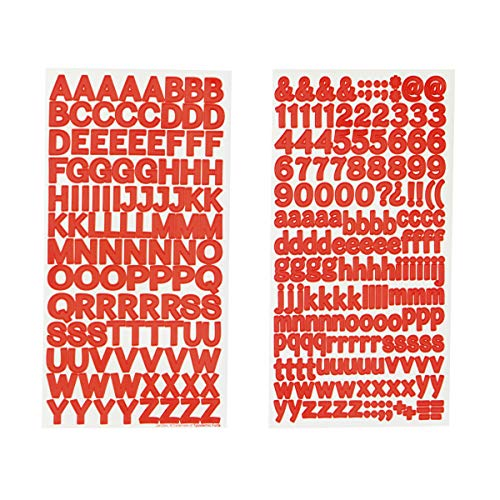 Darice 30052978 Small Block Font Letter Stickers: Red, 0.5 inches, 279 Pack