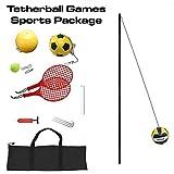 Verus Sports in-Ground 3-in-1 Tetherball Set