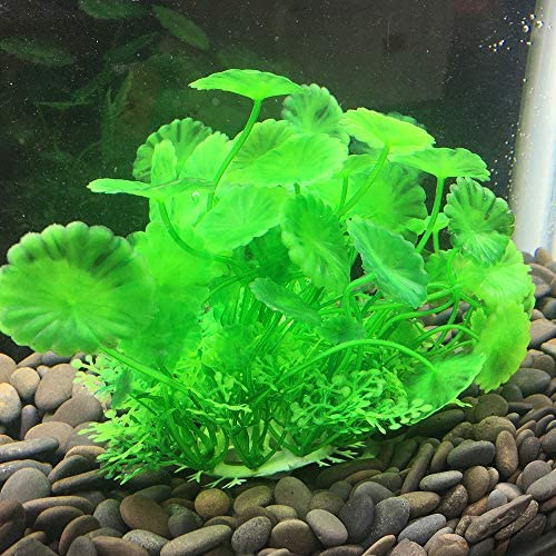 Smoothedo-Pets Aquarium Plants Fish Tank Decorations Small//Mini Plastic Artificial Plant Goldfish Waterscape Fish Hides Bushes Clover Set