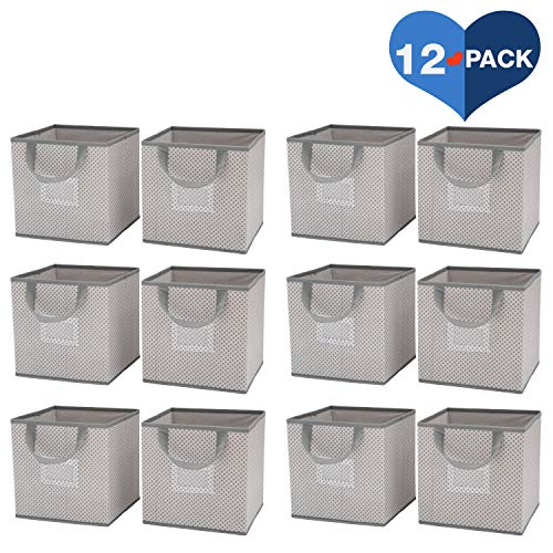 Delta Children 12 Piece Foldable Storage Cubes/Bins, Cool - Piece 12 Nursery