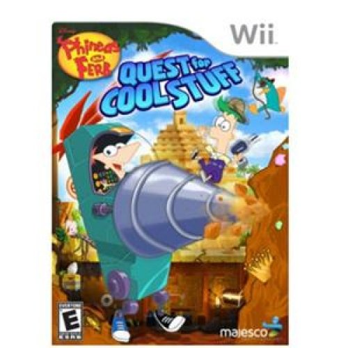 MAJESCO 01801 / Phineas & Ferb: Quest for Cool Stuff Simulation Game - Wii