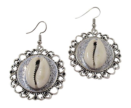 Cowrie Shell Earrings Drop Dangle Jewelry Wear With Cowry Pendant, Choker, Necklace, Bracelet. 2