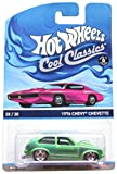 HOT WHEELS COOL CLASSICS GREEN 1976 CHEVY CHEVETTE WITH PICTURE OF PINK CAR ON PACKAGE