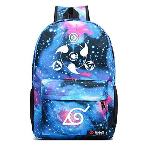 (Siawasey Anime Naruto Cosplay Luminous Bookbag Backpack School Bag(16 Styles))