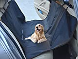 HAOCOO Easy-Fit Water Resistant Hammock Dog Back Seat Cover Pet Travelling Mat for Cars, Trucks, Suv's and Vehicles (Black, Larger(65 x 57 inches))