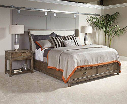 American Drew 619925 King Sleigh Bed with Storage, Brown American Drew Bed