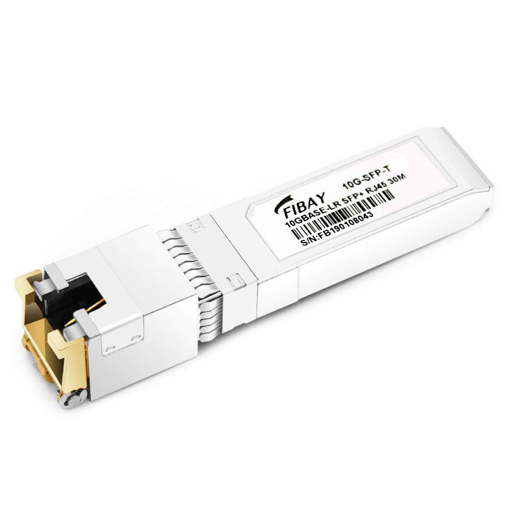 Fibay 10G SFP RJ45 for Ubiquiti Unifi UF-RJ45-10G 10GBase-T SFP+ Transceiver Module Copper, Cat6a/7, 30M