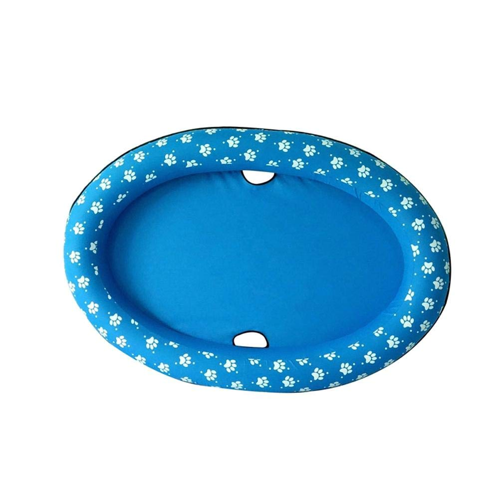Volwco Dog Pool Floats for Large Dogs, Portable Dog Swimming Pool Toy for Pool Float Inflatable Raft Pet Swim Pool for Small Puppies and Adults Cool Down in Summer Doggy Fun 55'' x 35'' (Blue) by Volwco