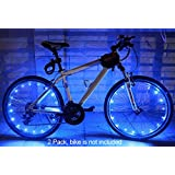 MAGINOVO Wheel Light LED Bicycle Bike Rim Lights Safety and Fun [2-Pack Bundle for 2 Tires]