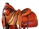 15 16 17 Premium Tooled Trail Roping Roper Horse Saddle Western Leather Pleasure