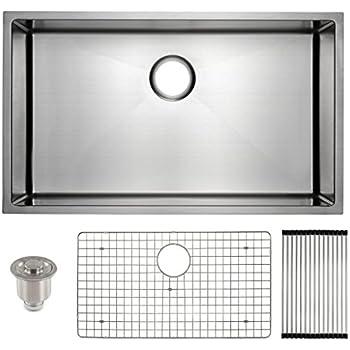 Frigidaire Undermount Stainless Steel Kitchen Sink, 10mm Radius Corners, 16  Gauge, Deep Basin