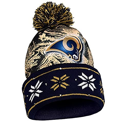 NFL Big Logo Light Up Printed Beanie Knit Cap (Los