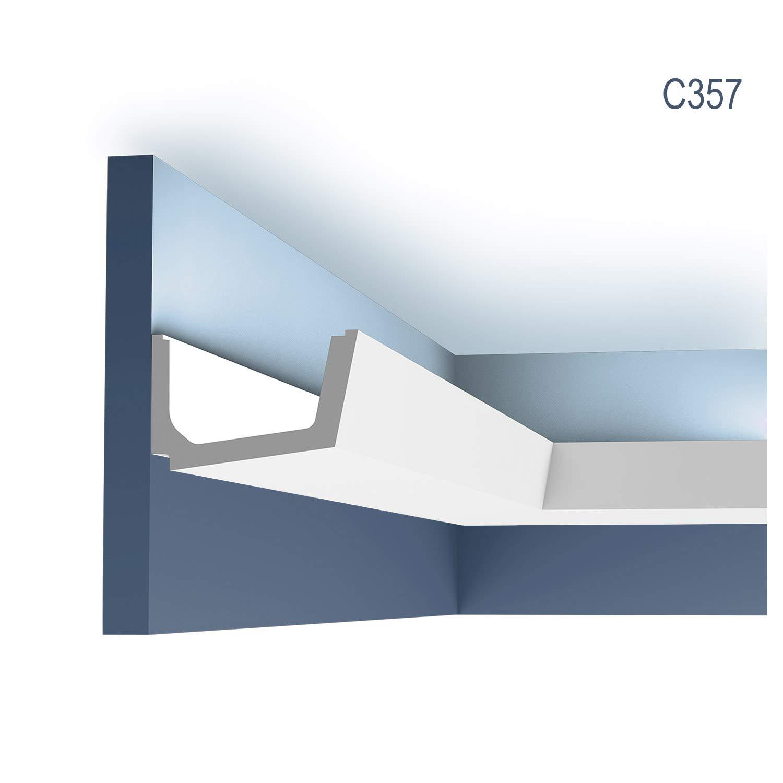 Cornisa Moldura Perfil de estuco para Iluminación indirecta Orac Decor C357 LUXXUS Elemento decorativo 2 m: Amazon.es: Bricolaje y herramientas