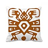 DIYthinker Mexico Totems Mexican Ancient Civilization Square Throw Pillow Insert Cushion Cover Home Sofa Decor Gift