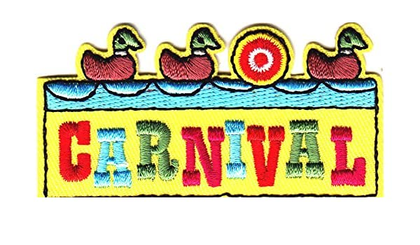 "//Iron On Embroidered Applique//Amusement Games /""CARNIVAL/"" PATCH GAMES Fun"