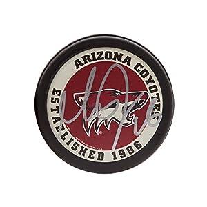 MAX DOMI Autographed Arizona Coyotes Puck UDA