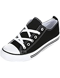 Women's Sneakers Casual Canvas Shoes Solid Colors Low Top Lace up Flat Fashion