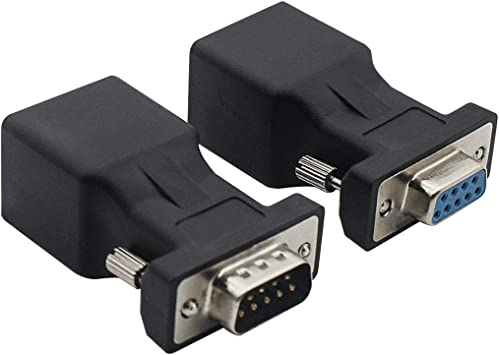 Extender VGA Male to RJ45 Female Network Cable Adapte Connectors
