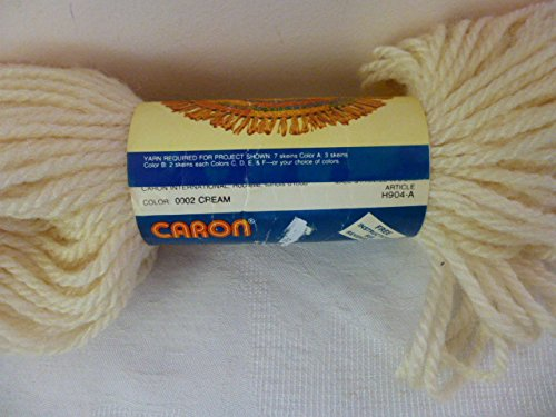 Caron Cream Heavy Rug Yarn. Color 0002 Cream, Art. H904-A