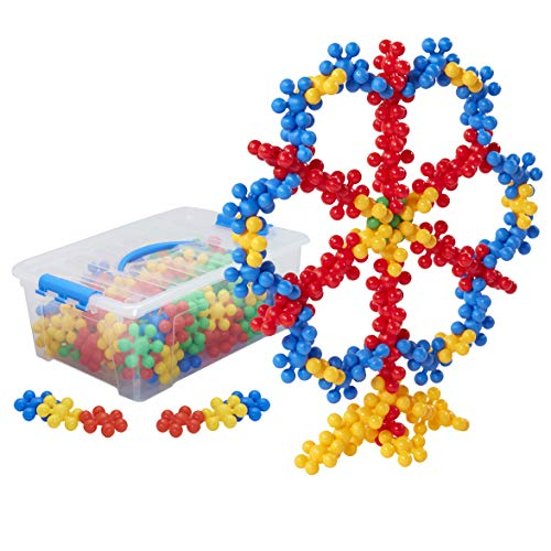 ECR4Kids Silly Star Connector STEAM Manipulative Building Block Set, Interlocking Educational Sensory Learning Toys for Children with Storage Container (112-Piece Set)