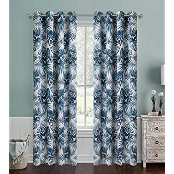 Amazon Com Tropical Banana Leaf Blackout Curtains 1 Panel