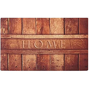 Amagabeli Rubber Indoor Doormat Rustic Entrance Welcome Mat Inside Shoe Scrap Washable Apartment Garage Front Porch DÃcor Office Foyer Hall Entryway Floor Mat Bedroom Carpet Home Kitchen Rug 18x30
