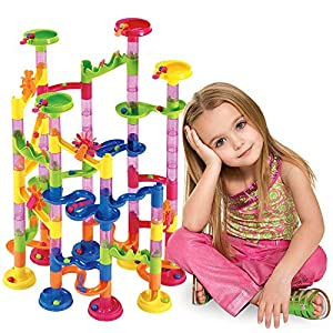Marble Run Set 105 Pcs – Construction Building Blocks Toys Game for 4 5 6 7 Year Old Boys Girls Kids