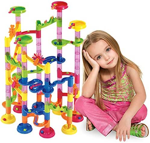 Marble Run Set 105 Pcs - Construction Building Blocks Toys Game for 4 5 6 7 Year Old Boys Girls Kids