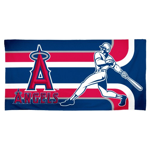 - Anaheim Angels Fiber Reactive Pool/Beach/Bath Towel (Team Color)