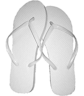 6e869f58ea0db Wholesale Ladies 36 Pairs Solid White Flip Flops