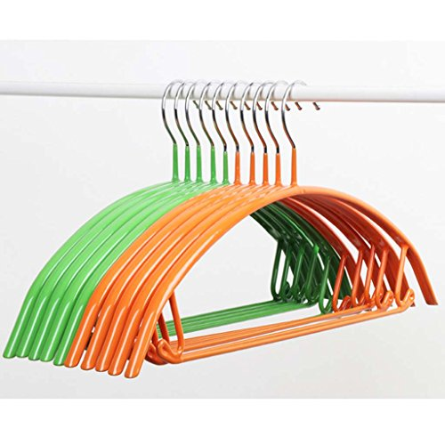 Clothes rack Household Dip hanger metal Non-slip clothes rack No trace stainless steel hook up Drying pants rack Hanging adult clothes (Color : 1) by Drying Racks