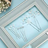 44 Pieces Wedding Hair Comb Faux Pearl Crystal