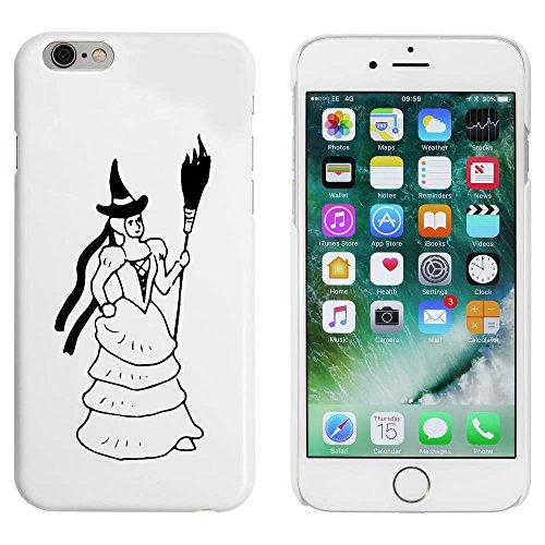 Blanc 'Sorcière avec Balai' étui / housse pour iPhone 6 & 6s (MC00088957)
