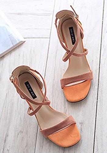 Aisun Femme Chaussures Bride Sexy Cheville HfT6Hq0O