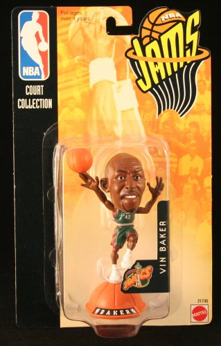 VIN BAKER / SEATTLE SONICS * 98/99 Season * NBA JAMS Super Detailed * 3 INCH * Figure - (Baker Blazer)