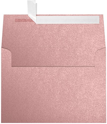 A7 Invitation Envelopes (5 1/4 x 7 1/4) - Misty Rose Metallic - Sirio Pearl (50 Qty.) | Perfect for Invitations, Announcements, Sending Cards, 5x7 Photos | 5380-M203-50