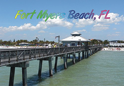 Fort Myers Beach Pier, Fort Myers, Florida, Beach, FL, Magnet 2 x 3 Photo Fridge - Florida Myers In Fort Stores
