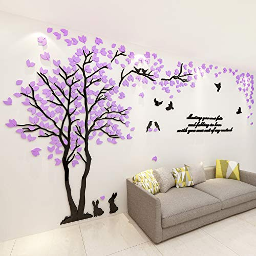 ViviLinen 3D Wall Stickers Tree of Memory and Love DIY Acrylic Wall Decal Home Decor Art