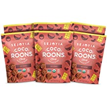 Sejoyia Brownie Coco-Roons. Chewy Cookie Bites, Cocoroon. Gluten Free, Paleo Snack, 3oz, 6 Count