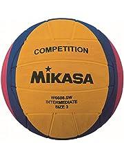 MIKASA W6608.5W Competition Intermediate Agua Fútbol/Agua Water Polo, Amarillo/Lila/Magenta, 3