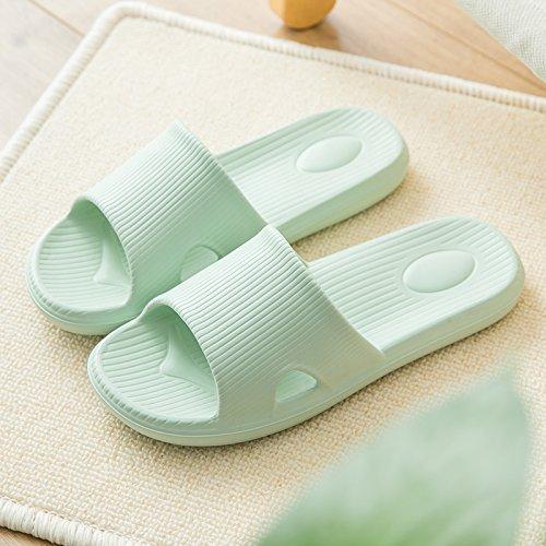 36 Slippers Interior Indoor Women Home Slip Slippers Summer fankou Slippers Bathroom 37 Female Male Cool Green Anti Couples Bath Slippers Home Light for x07HESqwE