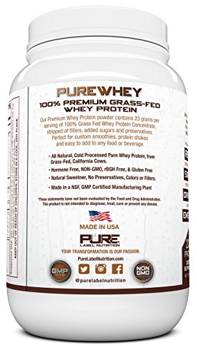 Grass-Fed-Whey-Protein-Powder-Chocolate-2lb-Whey-from-Grass-Fed-California-Cows-100-Natural-Whey-w-No-Added-Sugars-rBHG-Free-GMO-Free-Gluten-Free-Preservative-Free-PURE-Whey