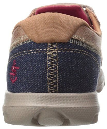 Skechers Performance Womens On-The-Go Flagship Slip-On Boat Shoe Denim/Taupe aSwyB5