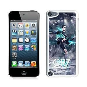 Hot Sale iPod Touch 5 Case ,Beautiful Unique Designed Case With Cristiano Ronaldo White iPod Touch 5 Cover