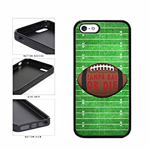 Tampa Bay or Die Football Field TPU RUBBER SILICONE Phone Case Back Cover Apple iPhone 5 5s comes with Security Tag and MyPhone Designs(TM) Cleaning Cloth