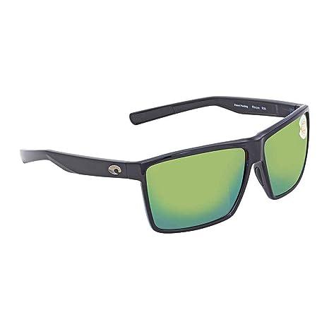 f3d0cc4748475 Costa Del Mar Rincon Sunglasses Shiny Black Green Mirror 580Plastic   Amazon.in  Beauty