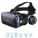 VR Headset, Cobra Tech 3D VR Virtual Reality Headset For 3D Movies and Games,360 Panoramic with Built-in Stereo Headphones, Comfortable & Immersive Experience VR Goggles for IOS and Android Device