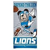 WinCraft Detroit Lions Mickey Mouse Disney Beach Towel