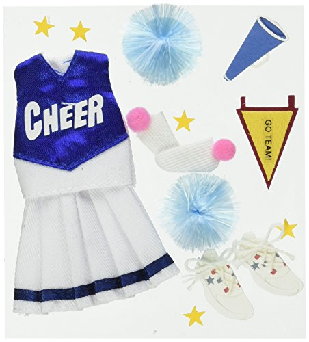Jolee's Boutique Dimensional Stickers, Cheerleading