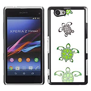 For Sony Xperia Z1 Compact / Z1 Mini / D5503 ,S-type® Lime Pattern Cute White Art Animal - Arte & diseño plástico duro Fundas Cover Cubre Hard Case Cover
